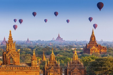 MYANMAR - YANGON - BAGON - CHÙA HÒN ĐÁ VÀNG (TN)