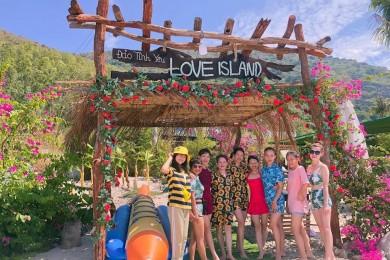 Nha Trang : Làng Bích Đầm - Đảo Tình Yêu - Hòn Chồng - Vinpearl Land